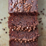Sliced Double Chocolate Zucchini bread