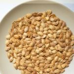 healthy roasted pumpkin seeds in a plate