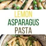 Lemon Asparagus Pasta in the instant pot