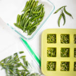 Various ways to store green chili peppers - in a ziplock, in a container in paper towel or as green chili paste in ice-cube trays