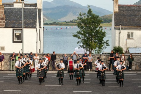 Photos of Ullapool Junior Pipe Band, playing in Ullapool, Ross-Shire