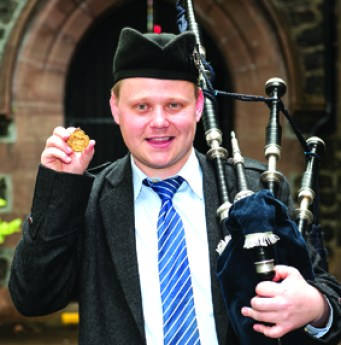Callum pictured this year after winning the Dunvegan Medal on Skye. Photograph courtesy Cailean MacLean