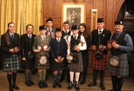New the portrait of the great Willie Ross today's prizewinners at the Scots Guards Junior Solos
