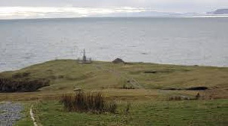 The memorial to the vistims of the Iolaire disaster