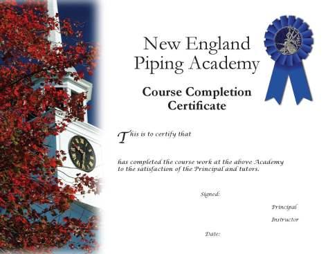 NEPA course certificate