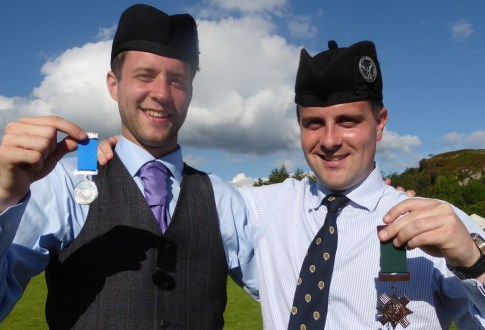 Alastair Lee and Finlay Johnston winners of the 'A' Grade Strathspey and Reel and 'A' Grade March