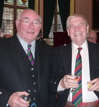 1972 Clasp winner Hugh MacCallum and prizewinner Iain MacFadyen pictured at the Northern Meeting reception in 2010