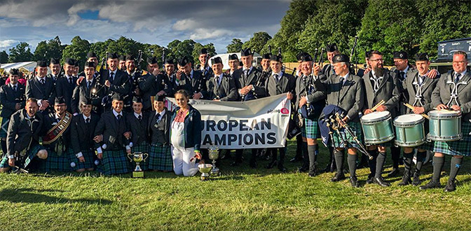 Inveraray & District Are European Pipe Bands Champions