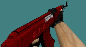 counter strike 1.6 ak47 skin crimson