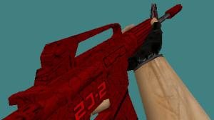 counter strike 1.6 m4a1 Crimson skin