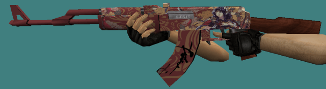 Counter Strike 1.6 AK47 Purple Samurai skin