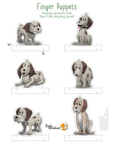 FingerPuppet page Dog lo