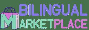bilingual marketplace logo