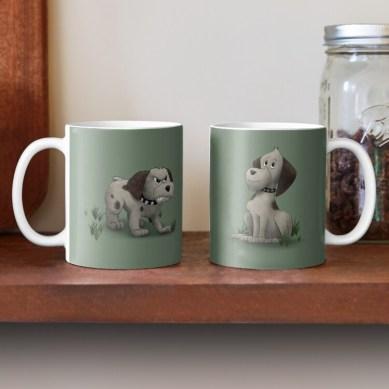 TwoMoods Dog Mug