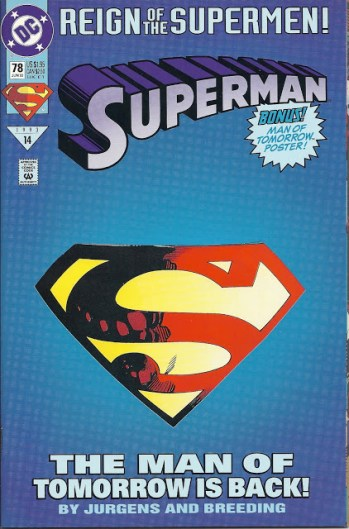 Reign of The Supermen_The Man of Tomorrow_DC Comics_Cover