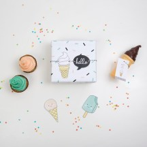 decoracion fiesta tematica infantil descargables papeleria ice cream helado colores pastel pipolart lamina party pipolart papel regalo