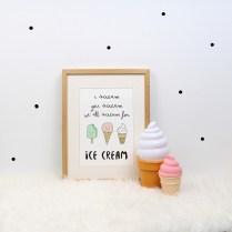 print descargable a3 para lamina bolso tela o camiseta pipolart helados ice cream pastel colores marco