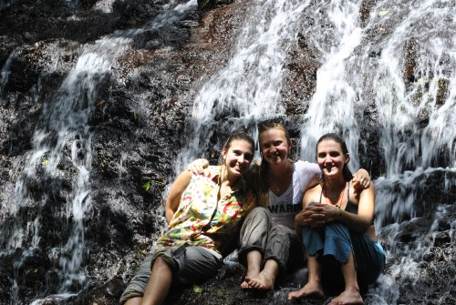 Cooling off after a horseback ride to a local waterfall. (Photo Credit: Jacob Taddy)