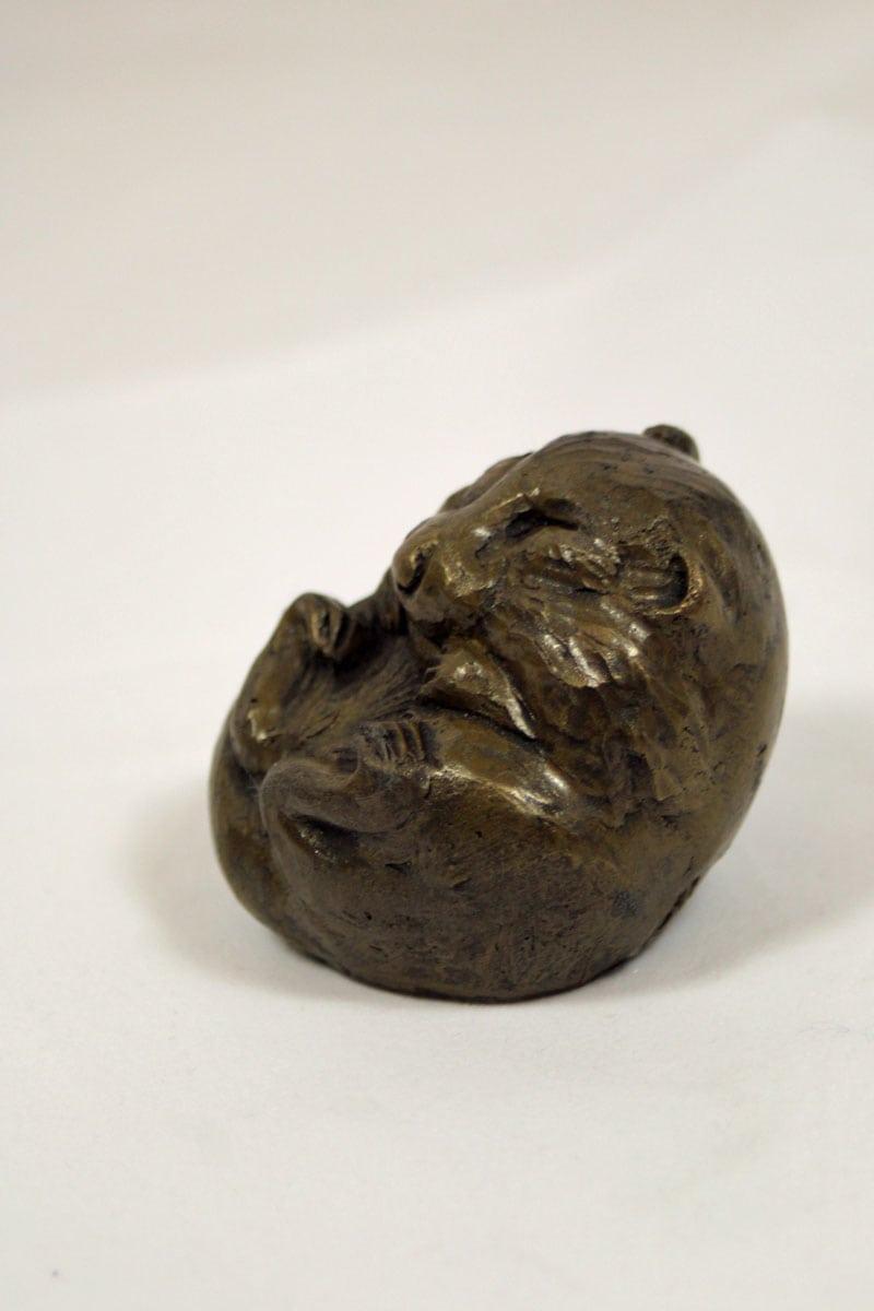 bronze resin Dormouse asleep