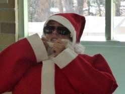 Santa gets a bit hot under his beard sometimes!