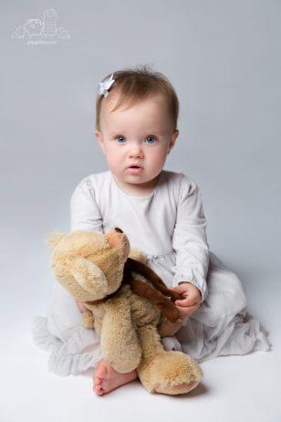 babyfotografering, bamsen min