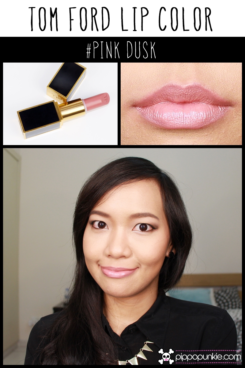 Tom Ford Lip Color Review & Swatches สี Pink Dusk