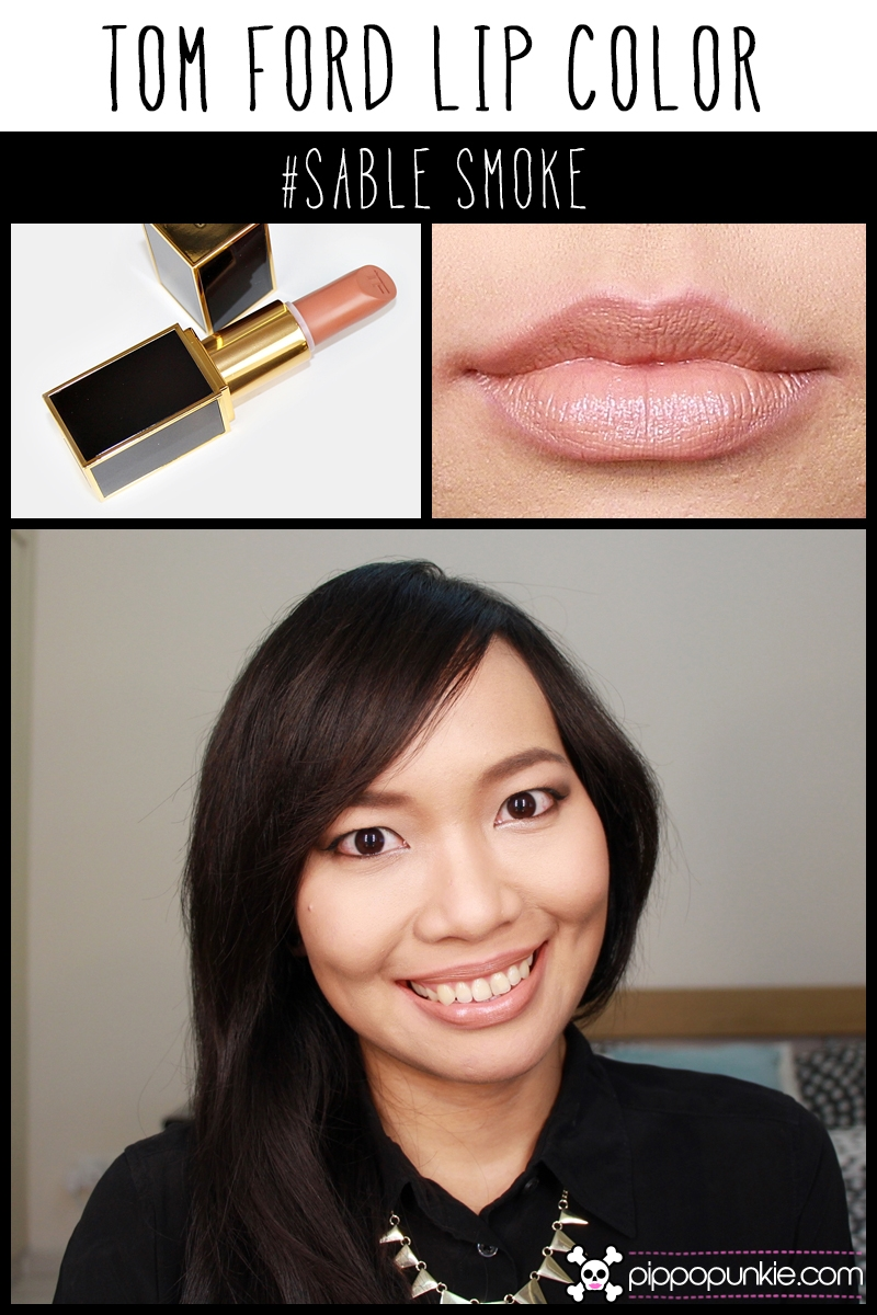 Tom Ford Lip Color Review & Swatches สี Sable Smoke