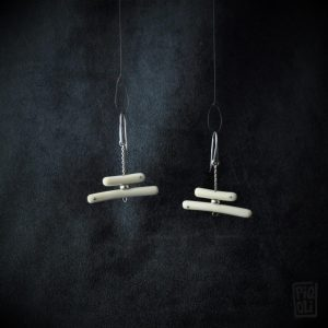 earrings mammoth ivory