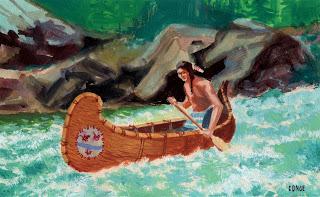 dibujo cano indios americanos
