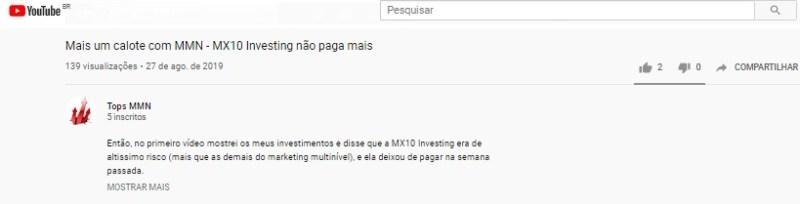 mx10 investing parou pagar caiu golpe furada