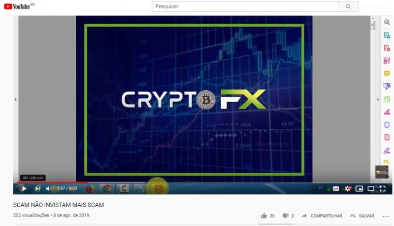 crypto fx parou pagar caiu furada golpe
