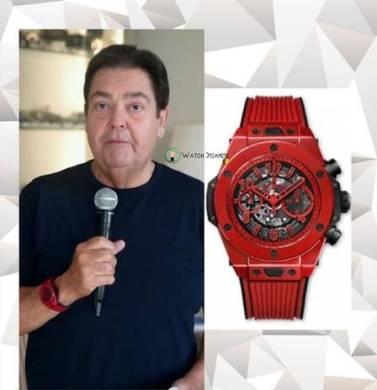Faustão com um relógio de 26 mil dólares