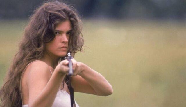 Uma foto de Cristiana Oliveira que viveu Juma Marruá em 1990, na novela Pantanal