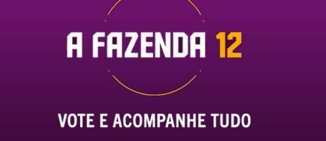 Uma foto do logotipo de A Fazenda 12