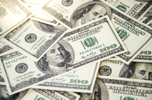 Uma foto do Dólar americano