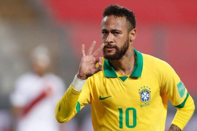Neymar faz três e conduz virada do Brasil sobre o Peru nas Eliminatórias