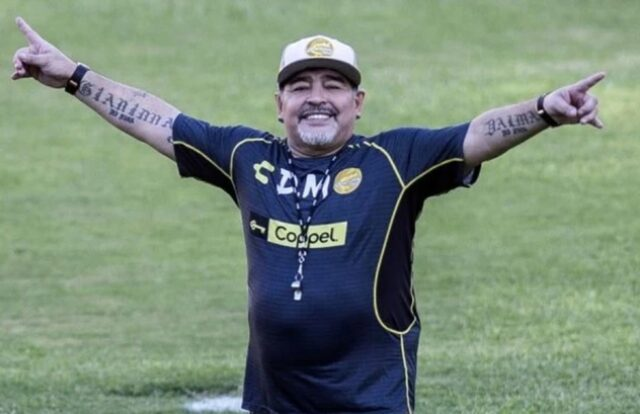 Uma foto de Diego Maradona