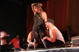 Kelly em show, na cidade de Bauru, em setembro.