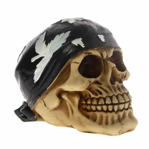 Biker skull head side