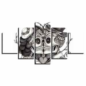 Mexican sugar skull painting
