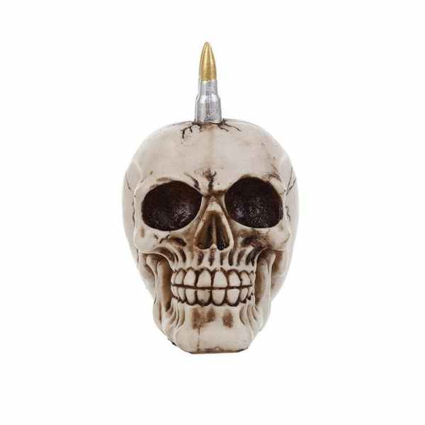 Mohawk skull statue