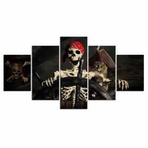 Pirate skeleton painting