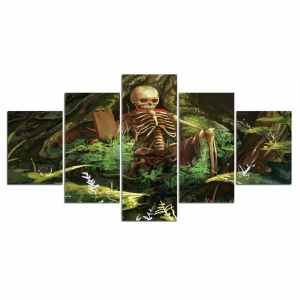 Skeleton painting on canvas