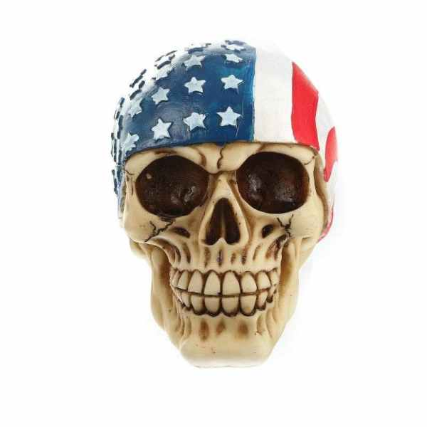 American Skull Statue