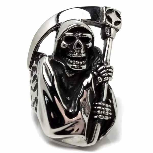 Grim Reaper Skull Ring