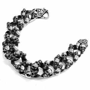Skull chain bracelet