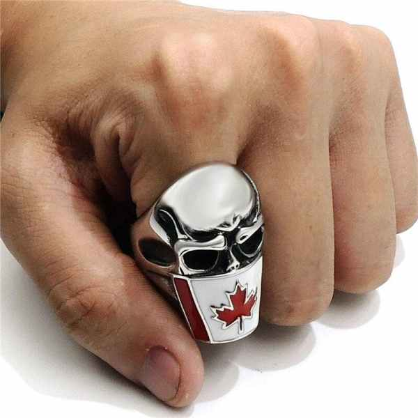 Wearing a Skull Ring Canada