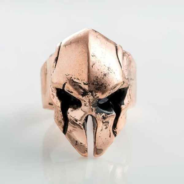 Spartan helmet ring copper