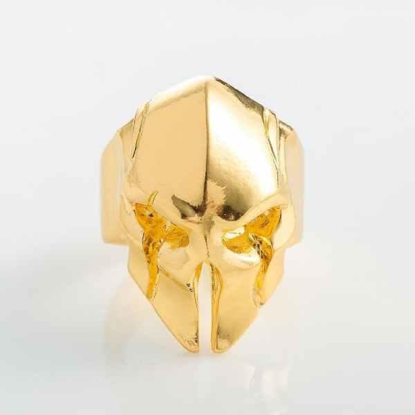 Spartan helmet ring gold