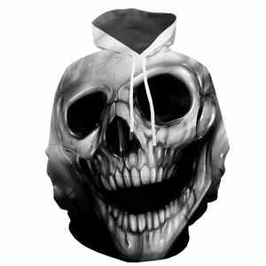 Cool Skull Head Hoodie